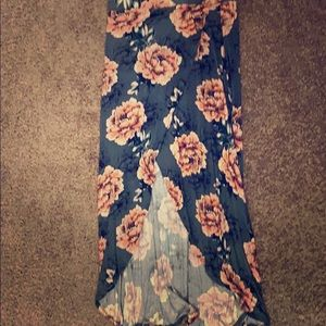 NWOT Charlotte Russe Floral Maxi Skirt